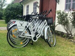 Cyklar för uthyrning på Husby Säteri